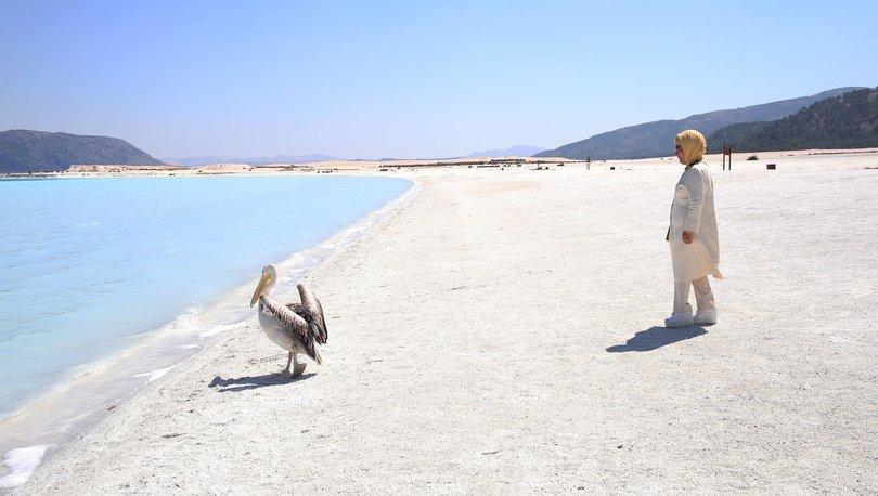 emine erdoğan salda gölü ile ilgili görsel sonucu