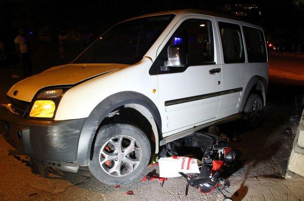 Motosiklet, ticari araçla çarpıştı: 1 ölü, 1 yaralı