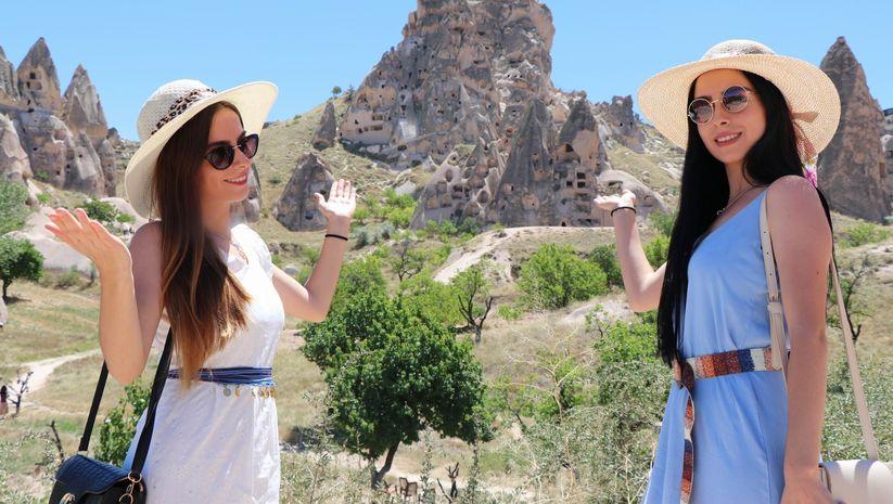 Kapadokya'da turist sayısında artış
