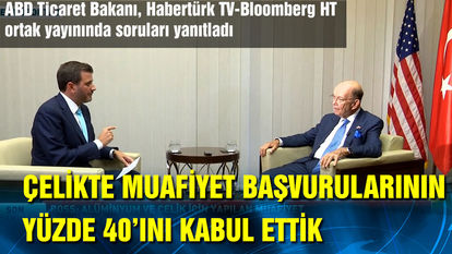 ABD Ticaret Bakanı Wilbur Ross, Bloomberg HT'nin sorularını yanıtladı.