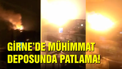 KKTC'de askeri bölgede patlama son dakika