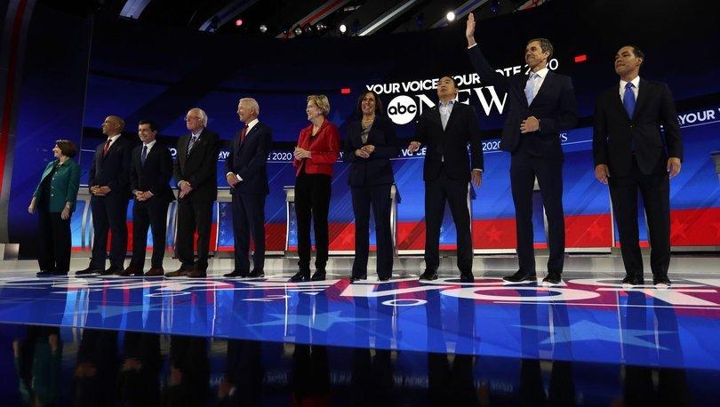ABD'de 10 Demokrat aday canlı yayında kozlarını paylaştı