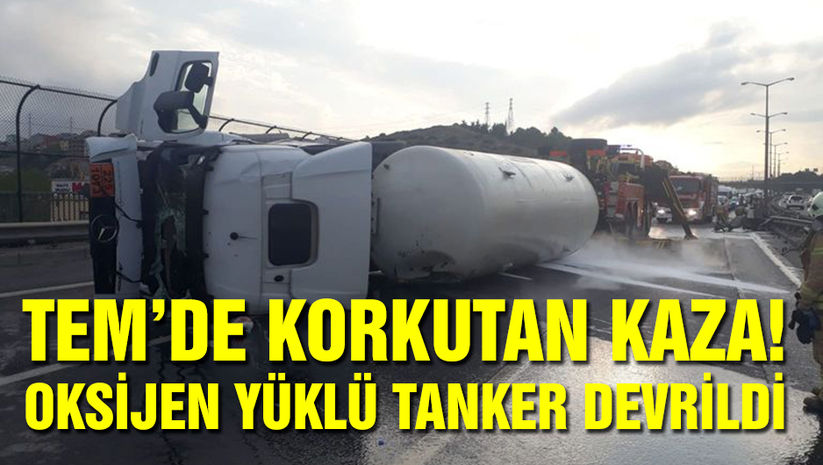 TEM'de korkutan kaza! Trafik felç oldu