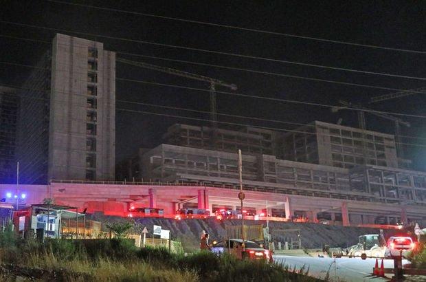 İzmir'de hastane inşaatında yangın