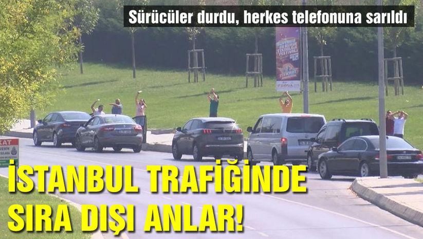 İstanbul trafiğinde sıra dışı anlar!