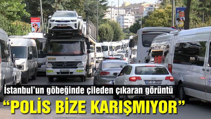 İstanbul'un göbeğinde çileden çıkaran görüntü!