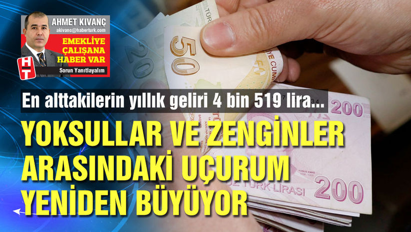 Türkiye'de en zengin kesim en yoksulun 24 katı kazanıyor