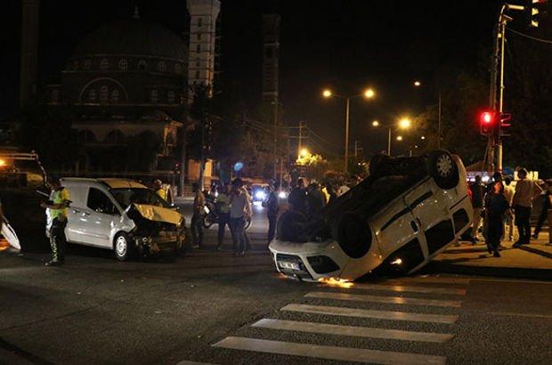 Korkunç kaza: 3'ü polis 5 yaralı