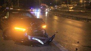 D-100'de trafik kazası! Trafik tamamen durdu