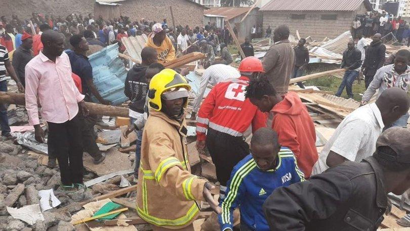 Kenya'da okul çöktü 7 ölü var