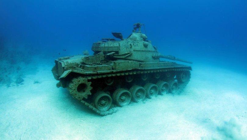 Akdeniz'in derinliklerindeki tank