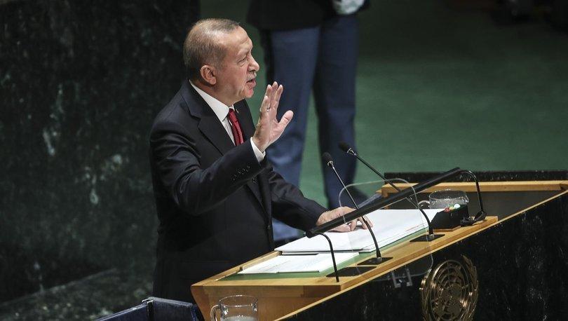 Cumhurbaşkanı Erdoğan'dan BM Genel Kurulu'nda çok sert İsrail mesajları