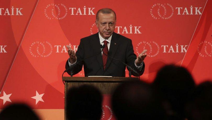 Son dakika... Cumhurbaşkanı Erdoğan ABD'de yatırımcılara hitap etti