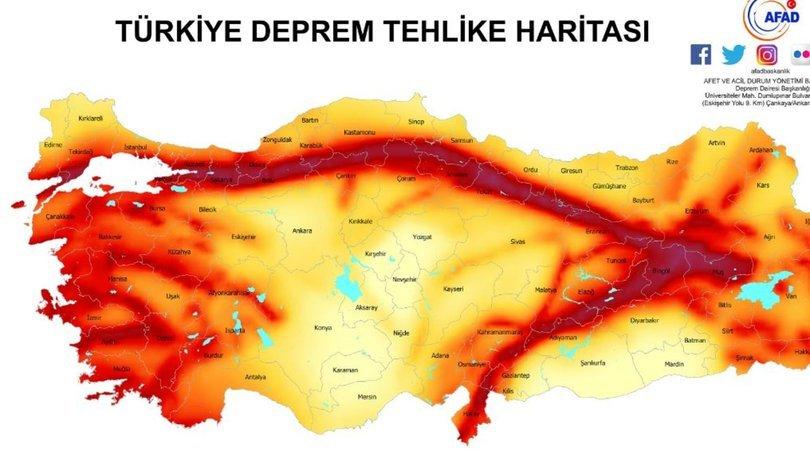 İstanbul deprem haritası- AFAD Kandilli İstanbul deprem haritası detayları