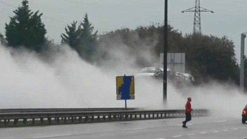 D-100'ü ulaşıma kapattıran gaz bulutu! - Haberler
