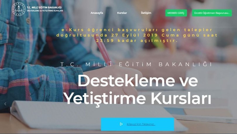 MEB e Kurs başvurusu uzatıldı! 2019 MEB Destekleme Yetiştirme Kursu (DYK) e Kurs başlama tarihi