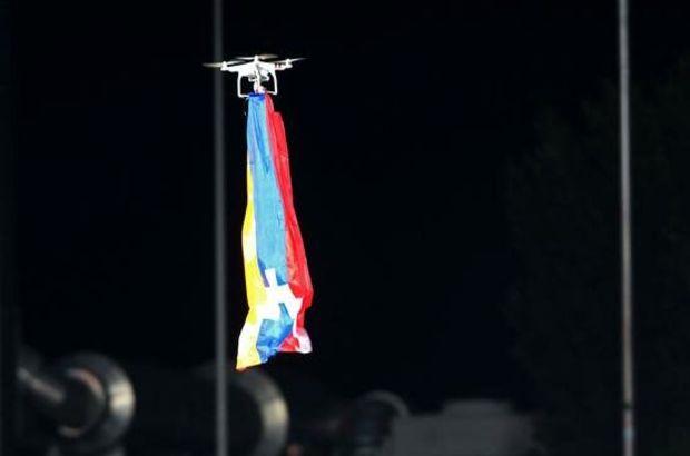 Karabağ maçında Ermenistan bayrağı!