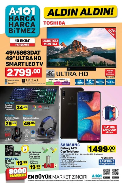 A101 10 Ekim aktüel ürünleri satışa çıkıyor! A101 bu hafta hangi ürünler indirimli olacak? İşte tam liste