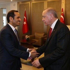 Cumhurbaşkanı El Sani'yi kabul etti
