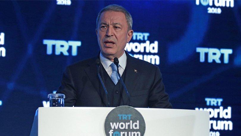 Milli Savunma Bakanı Hulusi Akar, TRT World Forum'da dikkat çekici açıklamalar yaptı