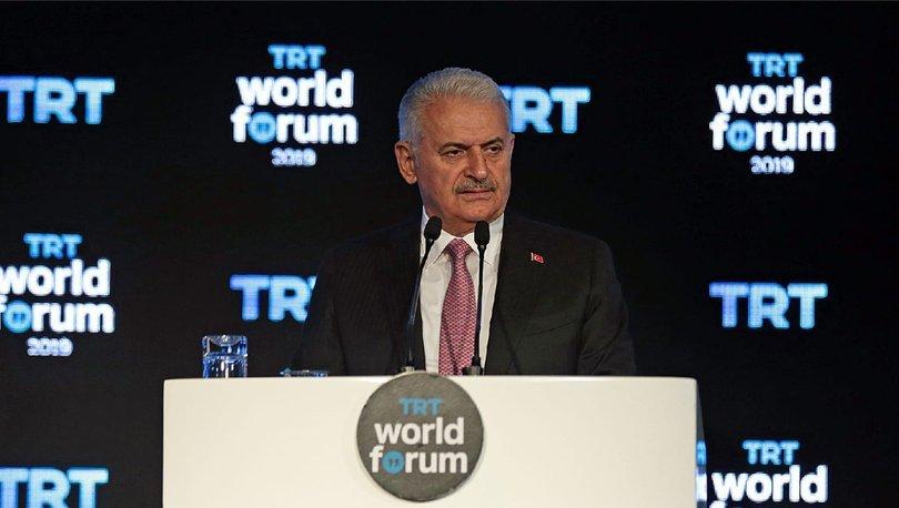 Binali Yıldırım'dan TRT World Forum'da önemli açıklamalar