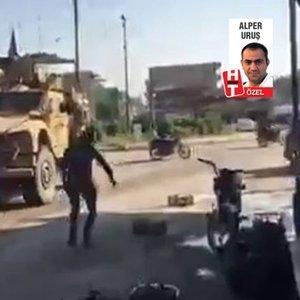 """""""PKK YANDAŞLARI ABD ASKERİNİ TAŞLADI!"""