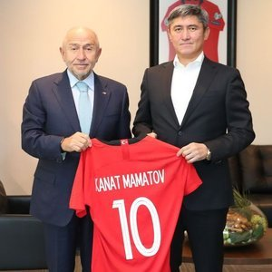 Mamatov'dan Nihat Özdemir'e ziyaret