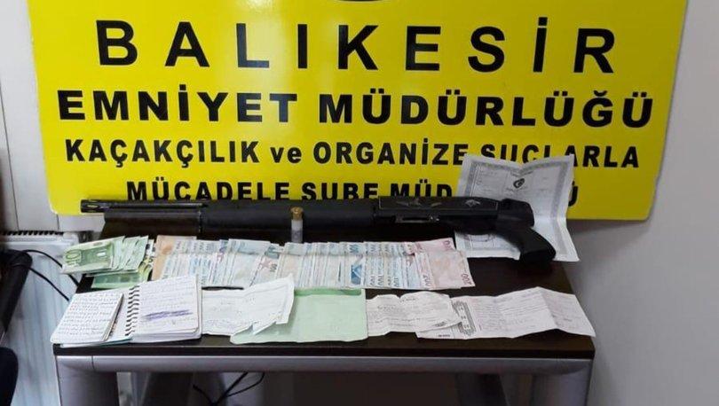 Balıkesir'de tefecilik yaptığı iddia edilen 9 kişi yakalandı