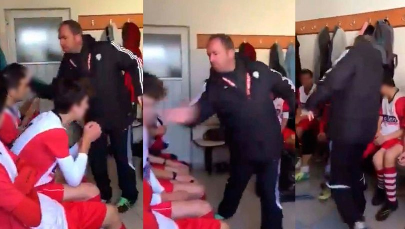 Futbolcularına tokat atan antrenör
