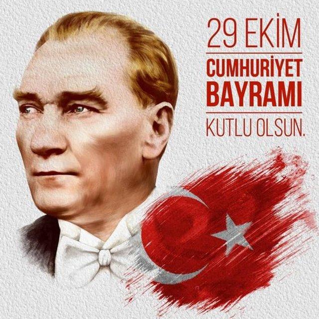 En güzel Cumhuriyet Bayramı mesajları yeni 2019! Atatürk ve Türk Bayrağı Cumhuriyet Bayramı resimleri