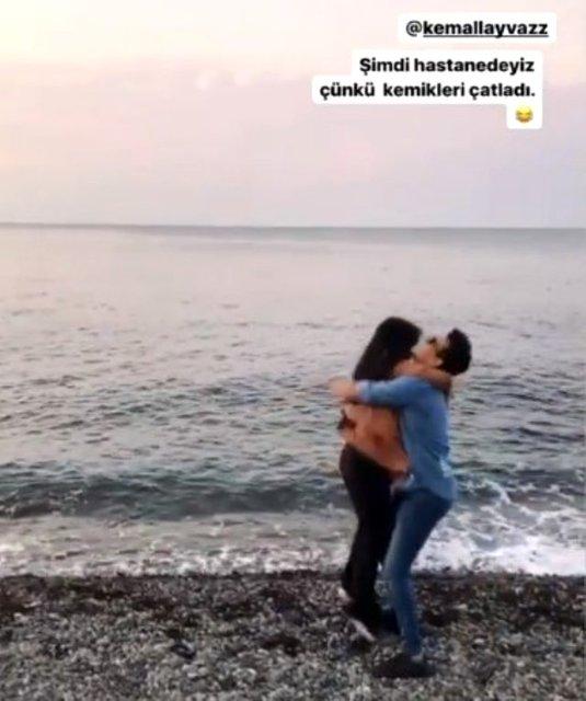 Gelin adayı Hanife Gürdal sevgilisine böyle sarıldı - Magazin haberleri