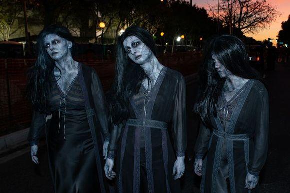 ABD'deki Cadılar Bayramı kutlamalarından bir fotoğraf