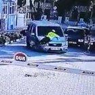 KAPUTUN ÜZERİNDEN 2 KM TAKİP ETTİ!