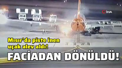 uçak yandı