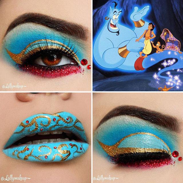 Disney karakterlerinden etkilenilen makyaj modelleri