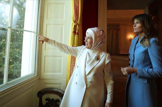 Emine Erdoğan, Trump ile bir araya geldi
