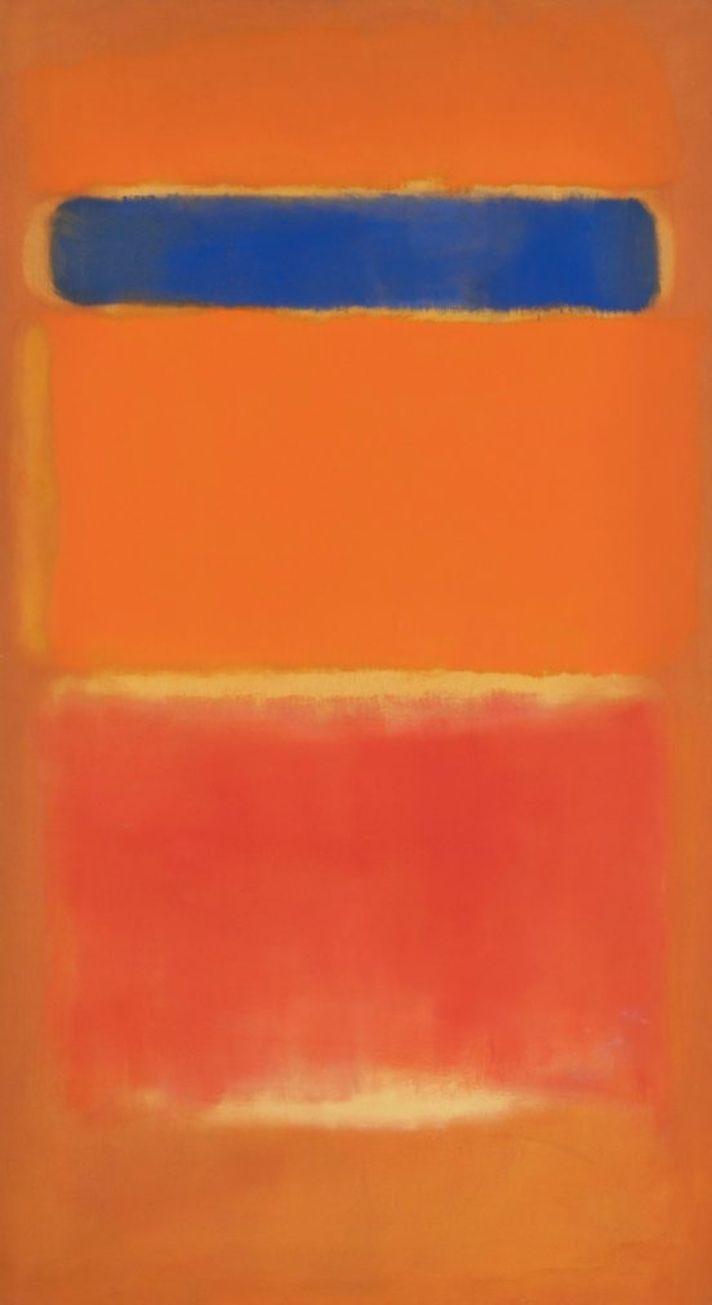 Mark Rothko'ya ait Blue Over Red (1953)