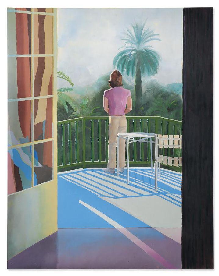 David Hockney-'Sur la Terrasse'