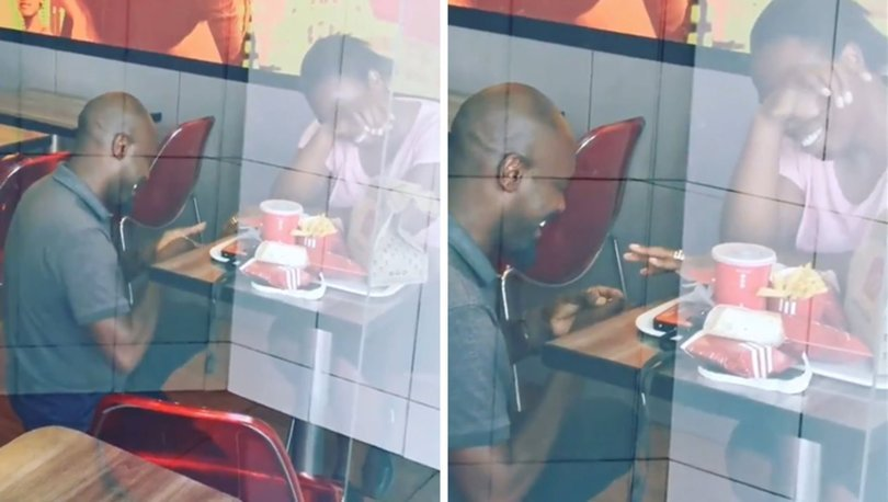 Fast food restoranındaki evlilik teklifi