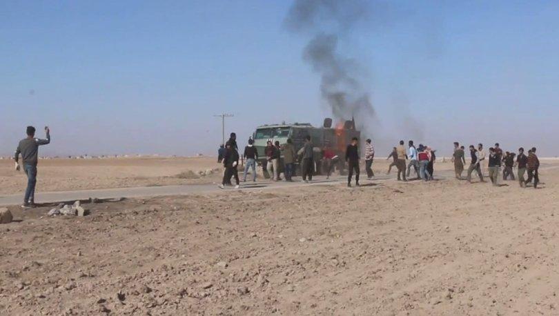 YPG/PKK yandaşları Rus askeri aracına saldırdı