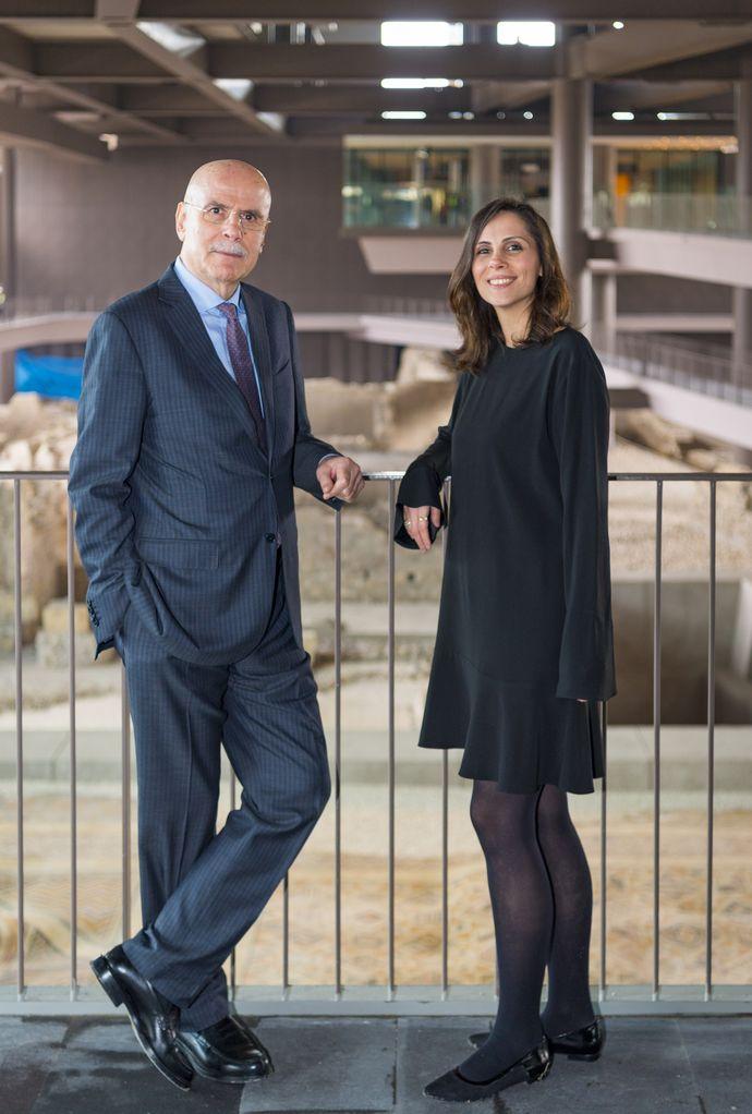 Necmi Asfuroğlu ve kızı Asfuroğlu Grubu Yönetim Kurulu üyesi Sabiha Asfuroğlu Abbasoğlu