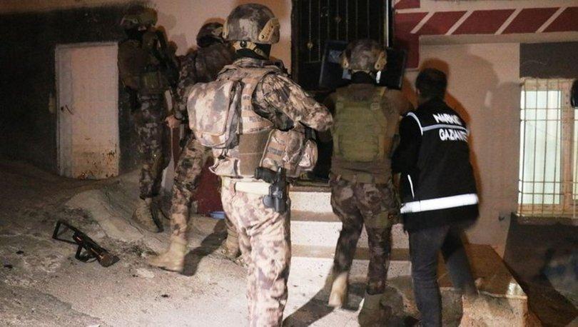 Gaziantep'te bin 720 polisle uyuşturucu operasyonu