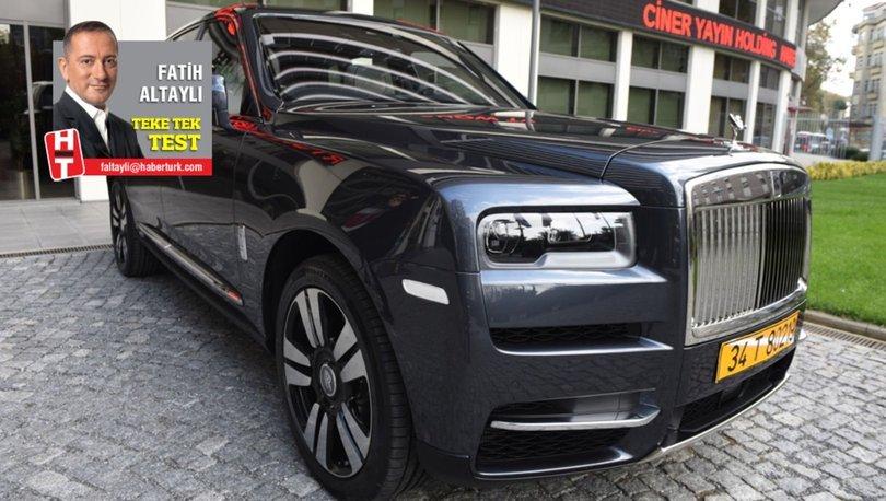 Rolls-Royce Cullinan Türkiye'de ilk kez Habertürk'te