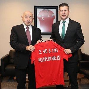2. ve 3. Lig Kulüpler Birliğinden Özdemir'e ziyaret