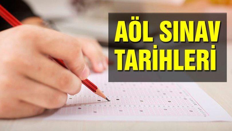 AÖL 1. Dönem sınavları ne zaman yapılacak? 2019 AÖL sınav tarihleri açıklandı