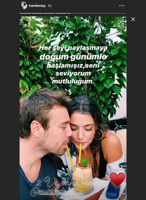 Murat Dalkılıç, Hande Erçel'in doğum gününü böyle kutladı - Magazin haberleri