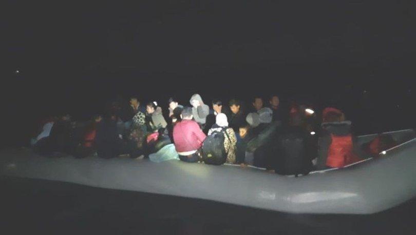 Bodrum açıklarında 36 düzensiz göçmen yakalandı