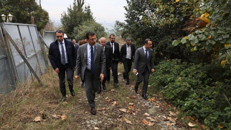 İBB Başkanı Ekrem İmamoğlu, Gülhane Parkı'nda incelemelerde bulundu