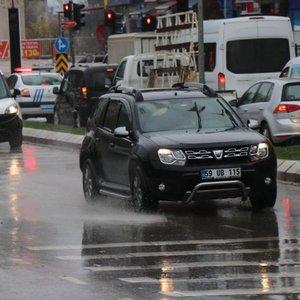 Edirne'de yağmur etkili oldu