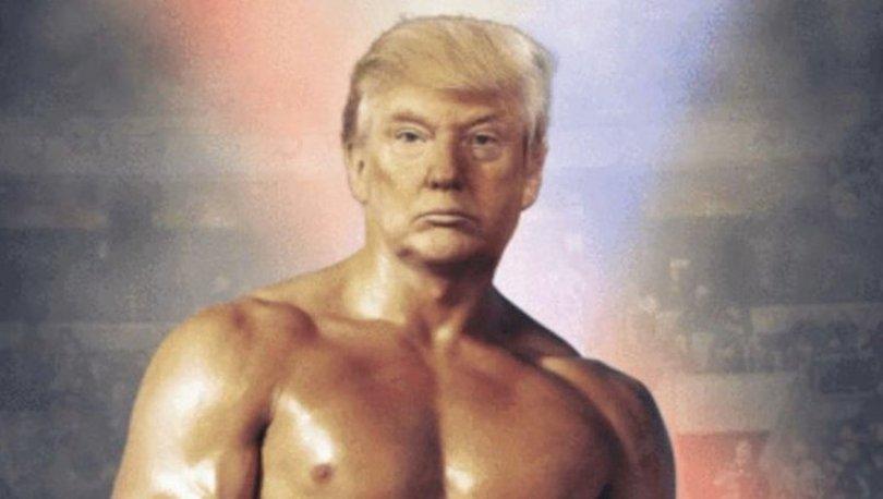 ABD Başkanı Donald Trump İtalyan aygırı Rocky Balboa pozu verdi